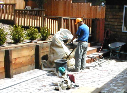 After- Redwood Fence, Redwood Retaining Wall , Pavers & Plantings